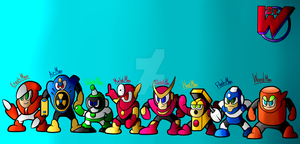 Megaman Robots Masters serie 2 by TorchicZK