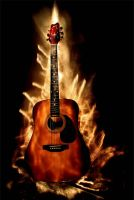 Guitar on fire by IvanAntolic