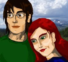 Lily and James -coloured by Ronjaliek