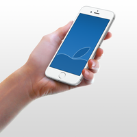 Apple-Blue Wallpaper for iPhone 6 and 6 Plus by kiwimanjaro