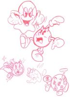 SUPER DUPER PAC MAN SKETCHES by JamesmanTheRegenold