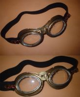 steam punk pilot goggles by elfy016