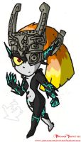 Attempt at drawing Midna 01 by BrokenTeapot