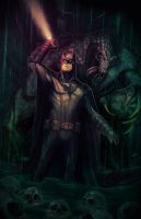 Batman In Darkness Dwells by botrocket