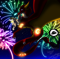 New Year 2014 by SolarPaintDragon