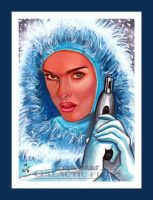 Topps Star Wars GALACTIC FILES Snow Bunny Padme by MJasonReed