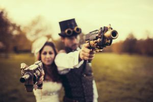 Paul and Danielle Steampunk Wedding 2 by HyperXP