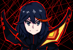 Ryuuko Sketch-WIP by Fritharn