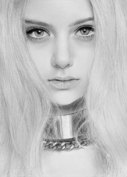Nastya Kusakina drawing (Pencil art) by Aeriz85