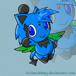 .gift. Zipo the Chao by vivianchhay