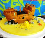 Commission: Sunken Pirate Ship Cake by cakecrumbs