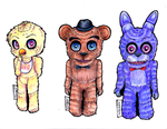 FNAF Bookmarks by EhX-KoR