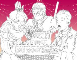 Pigs and Cake and Presents by The-G