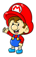 Baby Mario (MarioRPGEmilie Collab) by CloTheMarioLover