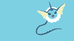 Vaporeon minimalistic wallpaper by Browniehooves