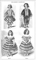 1858 Children Fashions Illustrations by helene-louise-stock