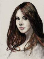Karen Gillan - Amy Pond COLOR by GreenTurtle666