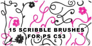 15 scribble brushes for ps cs3 by wickedjess