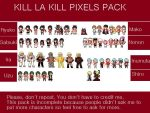 Kill la Kill Pixel Pack by PitchySoldier