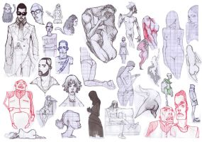 Sketches many many by sipries