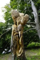 Kingfisher Tree Sculpture by Hyperborean1987