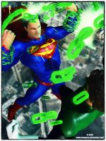 Superman vs Green Lantern by tiangtam