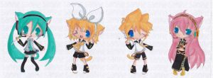 NKMP :Vocaloid Chibi Set by Ab-anna