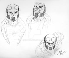 Hellboy expressions! by Fraven