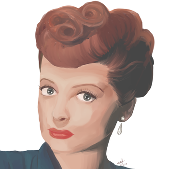 I Love Lucy Portrait by sugarbearkitty