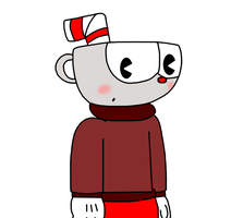 Cuphead with sweater by ElMarcosLuckydel96