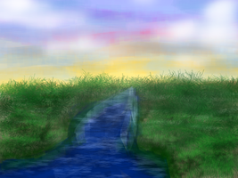 Brush Experiment 1 - River by DelusionInABox