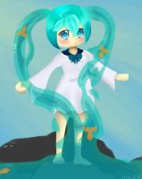 Bottle Miku request by missiefish