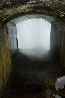 Tunnel behind the Niagara falls 01 by FairieGoodMother