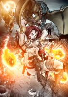 Red Sonja Page_Yonami_Otavio Liborio Color___ by otavioliborio