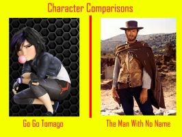 Go Go Tomago and The Man With No Name by timbox129