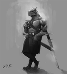 Dragonborn Barbarian by SergIole