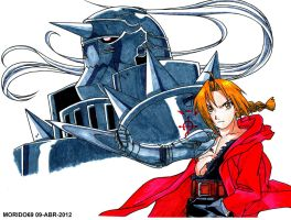 EDWARD Y ALPHONSE ELRIC (MARKER-COLOR) by MUERTITO69