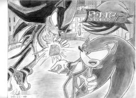 Sonic vs Shadow by The-Blue-Wind