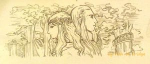 The Lord and Lady of Lothlorien by fish-in-fridge