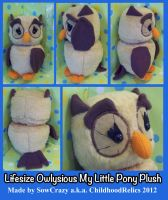 Handmade Lifesize MLP Owlysious Plush by SowCrazy