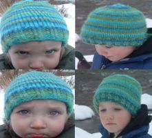 Toddler and Child Striped Hats by holls