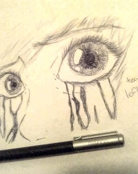 if tears left Scars.. by Slovenia--Charlotte