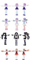 [MMD] Neptunia V Models Part 1 by xxSnowCherryxx