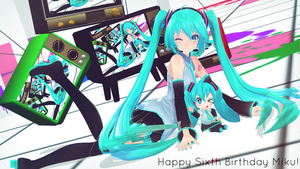 Happy(late) Birthday Miku~~ by Link-Pikachu