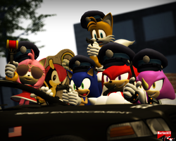 Police Squad - Sonic and his pals by MarineACU