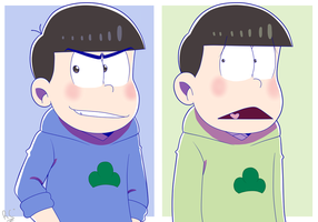 Karamatsu and Choromatsu by rashanacooke24