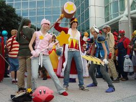 Kirby cosplay Ax 2008 by Mastershambler