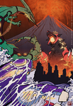 Clash of the Kaiju by SeanDonnanArt