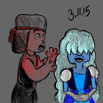 Ruby and Sapphire - sketch by mitx2