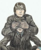 Lennon's hands over McCartney's eyes by gagambo